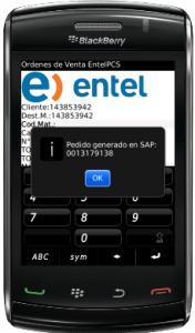 Aplicación Blackberry de Pedido Venta SAP