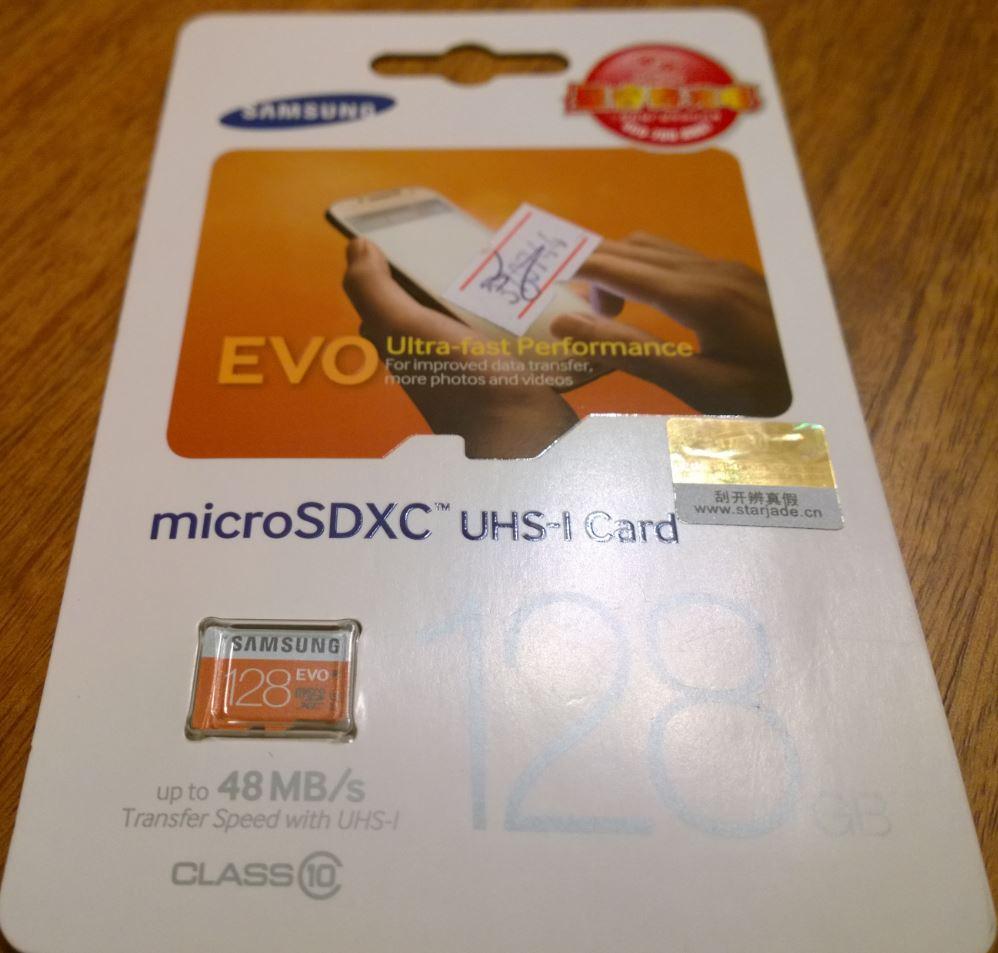 Minireview: Samsung microSDXC 128Gb EVO